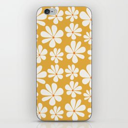 Floral Daisy Pattern - Golden Yellow iPhone Skin