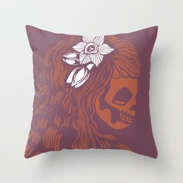 Death Becomes Hair Throw Pillow