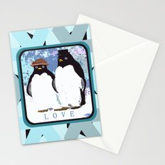 Love and Love Penguins Stationery Cards