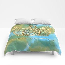 pineapple paradise Comforters