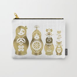 Russian Nesting Dolls – Gold Palette Carry-All Pouch