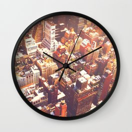 New York City Skyline Summer Wall Clock