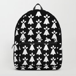 White and Black Ermine Spots Patterned Print Backpack