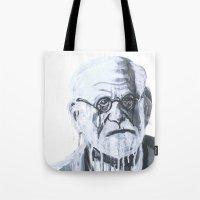 freud Tote Bags featuring Sigmund Freud by Sobottastudies