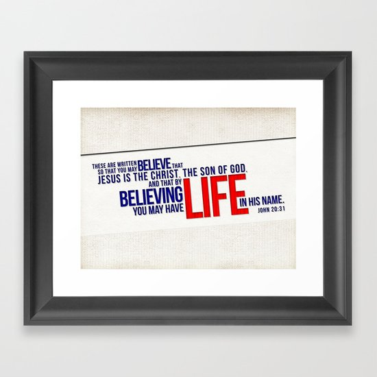 Life in His Name Framed Art Print
