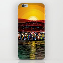 Angel Island Sunset (Square) iPhone Skin
