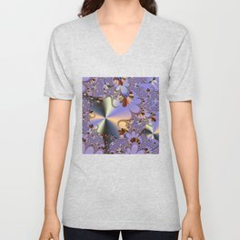 Metallic Shine with Fractals Unisex V-Neck
