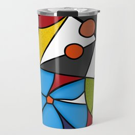Abstraction. Curves and bends. Color mosaic . Travel Mug