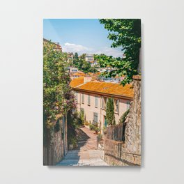 Historic Houses In Cannes, City Street On French Riviera, Cannes City In France, Charming Streets In Historic Old Center, Summer Travel Metal Print