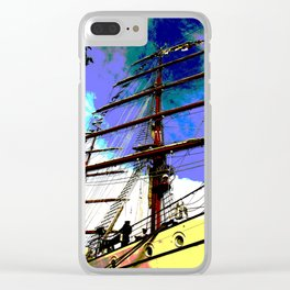 Mast rising towards the sky Clear iPhone Case