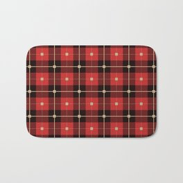 Red and Black Plaid Bath Mat