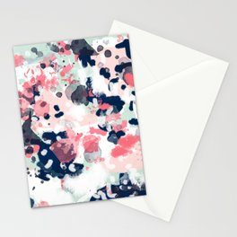 Hayes - abstract painting minimal trendy colors nursery baby decor office art Stationery Cards