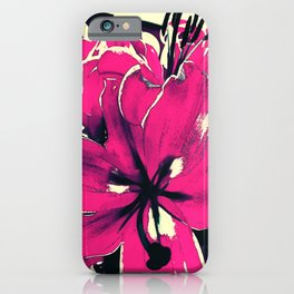Magenta Lily iPhone Case