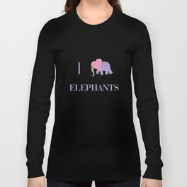 I Heart Elephants Long Sleeve T-shirt