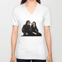 gondor V-neck T-shirts featuring Gondor Humour by wolfanita