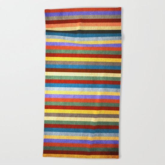 Crazy Stripes Beach Towel