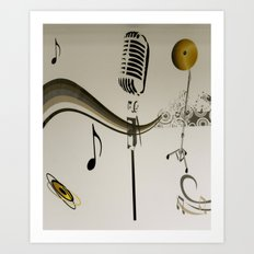 MUSIC - SING ME AN OLD FASHIONED SONG Art Print