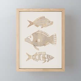 Fantastical Fish 1 - Natural Framed Mini Art Print