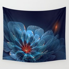 3D Blue Flower V2 Wall Tapestry