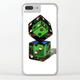 Rigged dices Clear iPhone Case