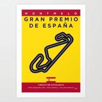 My F1 CATALUNYA Race Track Minimal Poster Art Print