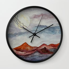Lightning Moon  Wall Clock