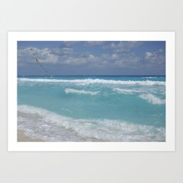 Carribean sea 3 Art Print