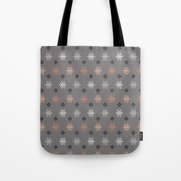 Boho Baby // Middle Eastern Metallic // Scorpion Symbol + Geometric Floral in Charcoal Tote Bag