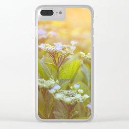 Sunset Hydrangea Clear iPhone Case