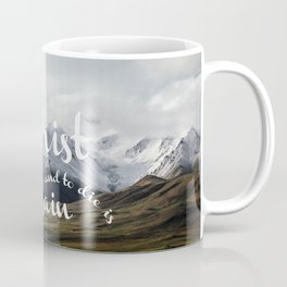 To Live is Christ and to Die is Gain Philippians 1:21 Typography Bible Landscape Art Coffee Mug