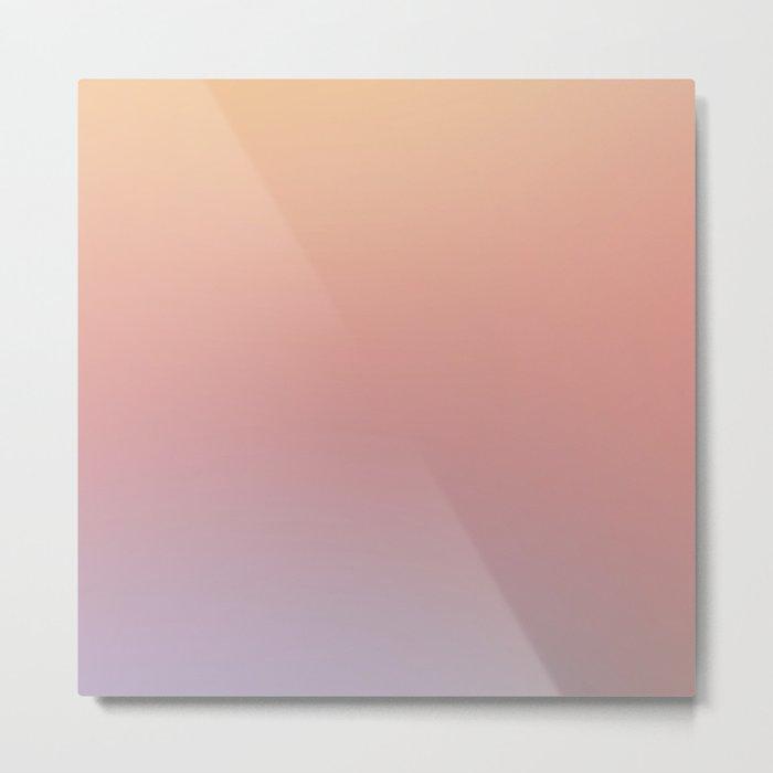 AFTER THOUGHTS - Minimal Plain Soft Mood Color Blend Prints Metal Print