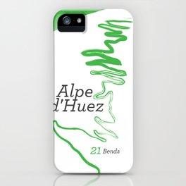Famous Climbs: Alpe d'Huez 1, Modern Spring iPhone Case