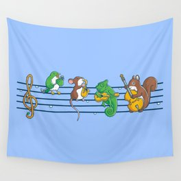 Animal Blues Wall Tapestry