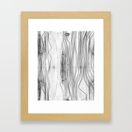 edgy black & white pattern 01 Framed Art Print