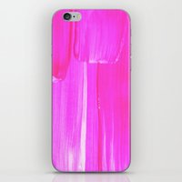 hot pink iPhone & iPod Skins featuring Hot PINK by HollyJonesEcu
