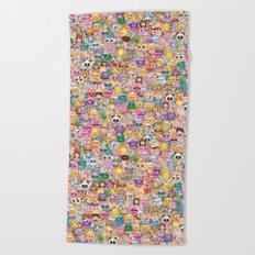 emoji / emoticons Beach Towel