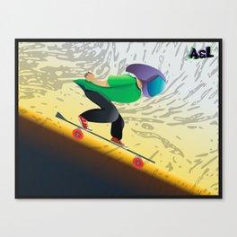 down hill longboard Canvas Print