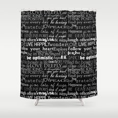 Inspirational Words Shower Curtain