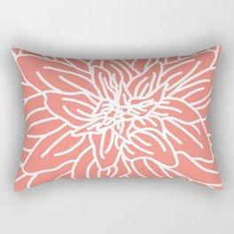 Abstract Flower Coral Rectangular Pillow