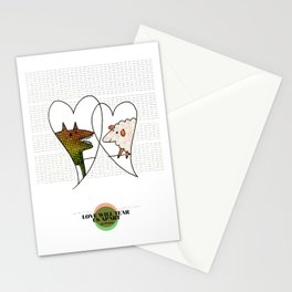 LOVE IN OUR OPINION - LOVE WILL TEAR US APART Stationery Cards