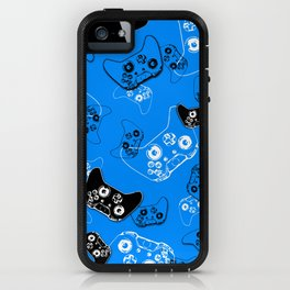 Video Game in Blue iPhone Case