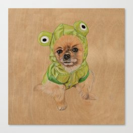 Littlle Greenie Canvas Print