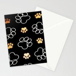 dog pawprint tracks background pet Stationery Cards