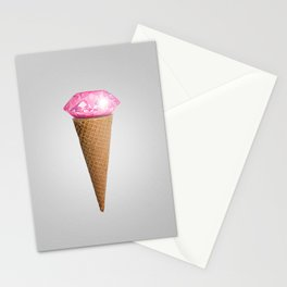 Diamonds are cool as fuck Stationery Cards