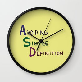 ASD Acronym Wall Clock