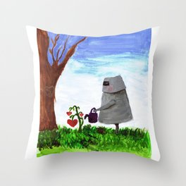 Sewing the Seeds of Love Throw Pillow