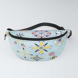 Christmas snowflakes pattern Fanny Pack