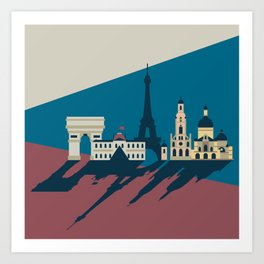 Paris - Cities collection  Art Print