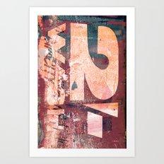 Collide 8 Art Print