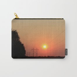 Kansas Sunset with Power Line and Poles Silhouettes Carry-All Pouch